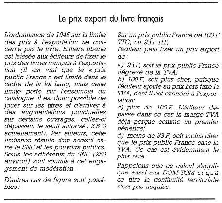 Quelques Reflexions Sur Le Livre Francais A L Etranger