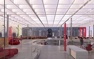 Le forum central de la future médiathèque de l'Hôtel-Dieu