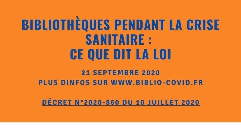 Préconisations - biblio-covid.fr